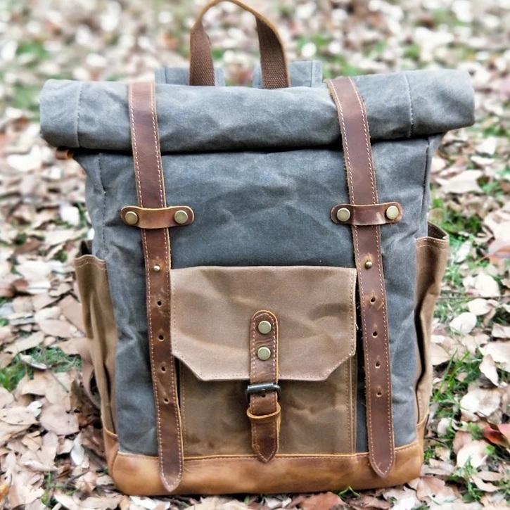 plecak skórzany outdoor